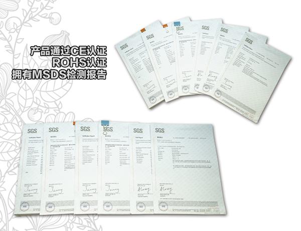QiangBao tire sealant certificate